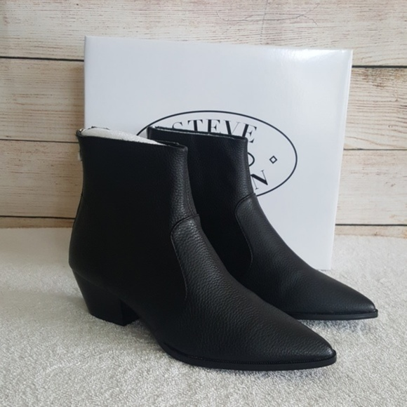 New Steve Madden Cafe Leather Bootie